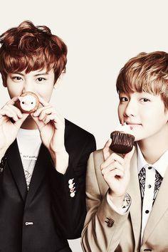 #EXO #Chanyeol #Baekhyun cute cute cute baekyeol