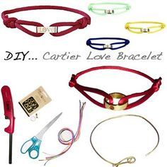 DIY: Cartier Love Cord Inspired Bracelet... May have to do this.