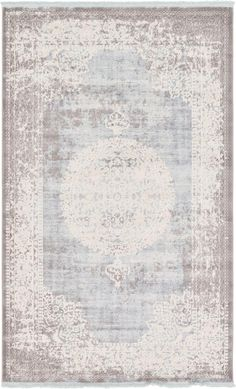 Light Blue 152cm x 245cm New Vintage Rug | Area Rugs | iRugs CH