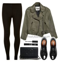 Acne by thestyleartisan on Polyvore featuring Dorothy Perkins, Acne Studios, MAKE UP FOR EVER, Leggings and WardrobeStaples