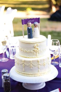 The multipurpose cake served as both a decorative centerpiece and a mouth-watering dessert.
