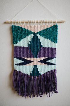 Handmade Weaving // Woven Wall Hanging by KateLoveGoods on Etsy