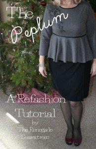 DIY Peplum T Shirt Refashion Tutorial2
