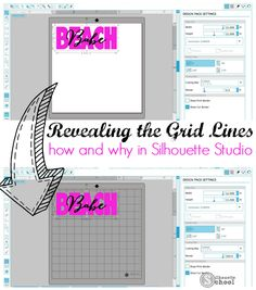 Silhouette Studio Mat Revealing Grid Lines: How and Why
