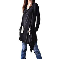 """Idea2lifestyle Women's Flowing Asymmetrical Tunic Dress """"Windflower"""" Black, http://www.amazon.com/dp/B01D2FOX2A/ref=cm_sw_r_pi_awdm_Xmv-wb0C1VMD8"""