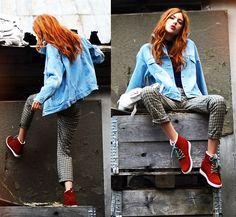 Ebba Zingmark - Romwe Jacket, Le Bunny Bleu Shoes, Pants, Grafea Backpack - Get Up On The Roof Sporty Chic, Winter Coats Women, White Girls, Girls Jeans, I Dress, Vintage Fashion, Women's Fashion, Women Wear, Street Style