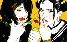Amanda Lanzone art illustration bubbles