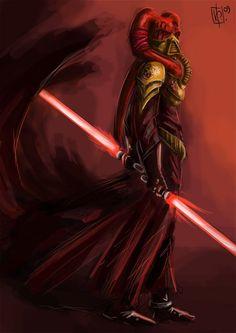 """Maestro Sith de Darth Tenebrous,Hombre Twi'lek Señor Oscuro del Sith del Linaje de Bane,quien desarrollaría junto a su aprendiz un virus controlado que cortaría a los Jedi con su conexión a la Fuerza, también fue conocido entre los Siths posteriores por abrir una """"herida en la Fuerza"""",permitiendo asi a los Jedis sentir por primera vez en siglos la prescencia del Lado Oscuro de la Fuerza"""