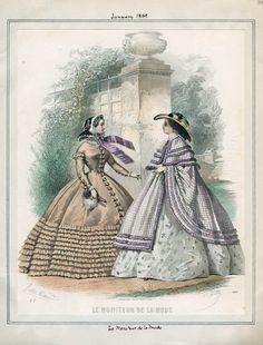 Le Moniteur de la Mode, January 1859.