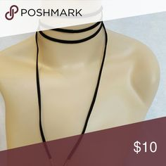 Black suede lariat boho wrap choker Chokers are a HOT item right now! This choker can be worn a variety of ways. Be simple and wrap it around a few times, or tie it up for a more fun look. Length is appox. 70in. The possibilities are as limitless as your imagination.  Multiple colors and styles are available. Check my other listings. No brand.  Listed as Free People for exposure. New in package. Free People Jewelry Necklaces