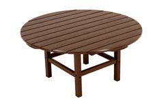 "Polywood RCT38MA Round 38"" Conversation Table in Mahogany"