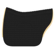 Lammfell: natur Steppstoff: schwarz Einfassung: schwarz Größe: L  Lieferung: sofort  HINWEIS: Die Sattelunterlage ist nicht wirbelsäulenfrei.