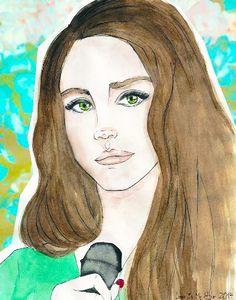 Lana Del Rey #LDR #art by Van Simon
