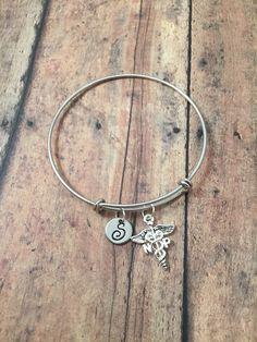 Nurse Practitioner charm bracelet  medical jewelry by kimsjewelry