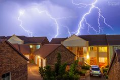 Pretoria Storm - Sometimes you have to shoot just for yourself. We had an amazing electrical storm in Pretoria last night (unfortunately more lightning than water where I live). The scenery isn't the type you'd like to frame and hang on the wall, but it was nice to sit on my own balcony and get some strikes. Enjoy. Combination of 2 images