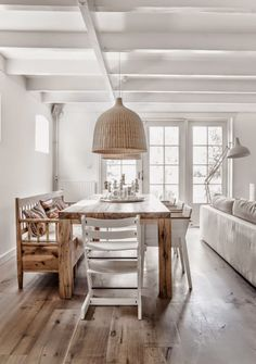 Stylish dining room furniture for elegant home design - Home Interior Design Ideas Home Interior, Interior Design, Interior Blogs, Interior Livingroom, Dining Room Inspiration, Scandinavian Home, Home And Deco, Dining Room Design, Dining Area