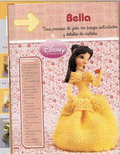 La princesa Bella, está esperando a que la hagas.   Como veis queda fabulosa y encantadora. Si te gusta el cuento de La Bella y la Bestia.....