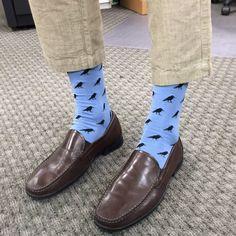 Awesome blue Edgar Allan Poe Raven Nevermore office socks