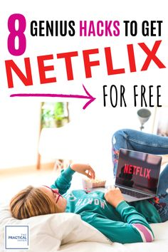 Hoping to binge watch your favorite TV shows? I got you covered! Learn 8 easy HACKS to watch Netflix FREE! These simple ideas will have you streaming movies in no time for you and your kids. Netflix Hacks, Netflix Free, Free Netflix Account, Watch Netflix, Netflix Codes, Netflix Users, Ways To Save Money, Money Saving Tips, Entertainment