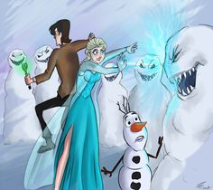 Ice vs Snow by Fonora.deviantart.com on @deviantART