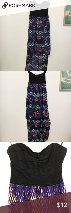 Hurley Multicolored Hi-Low Dress Gorgeous multicolored Hurley Hi-Low dress! Bodice is stretchy soft cotton. The dress zips up the side. Only worn once or twice. Hurley Dresses Strapless
