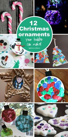 12 Super Easy Christmas Ornaments Toddlers Can Make (With A - hair sytle Preschool Christmas, Christmas Crafts For Kids, Christmas Activities, Homemade Christmas, Christmas Projects, Christmas Themes, Holiday Crafts, Christmas Holidays, Christmas Gifts
