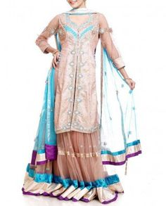 #Exclusivelyin, #IndianEthnicWear, #IndianWear, #Fashion, Beige Lehenga Set
