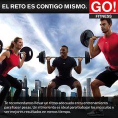 recomendación adecuada al hacer pesas