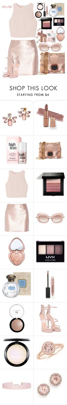 """Baby Spice 👧"" by chelsofly on Polyvore featuring Marchesa, Jimmy Choo, SemSem, Bobbi Brown Cosmetics, Morgan, Pomellato, Too Faced Cosmetics, NYX, Burberry and Giuseppe Zanotti"
