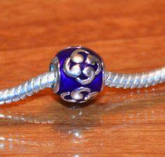 Purple Enamel Bead for Pandora Bracelet 925 ALE by grammysattic12, $19.99