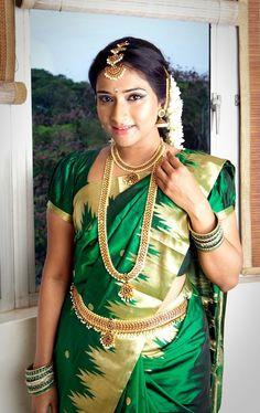 Green and gold kanjivaram sari...ethnic and classie