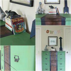 58 Water Street, Fab Flippin Contest, Plaid Dresser, Boy's Room Decor, Furniture Makeover