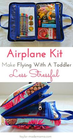 How To Entertain A Toddler On A Plane – Travel Tips + A Free Printable Checklist - Reisen - Toddler Plane Travel, Airplane Travel, Travel With Kids, Kids Travel Kits, Airplane Flights, Packing Tips, Travel Packing, Travel Hacks, Travel Ideas