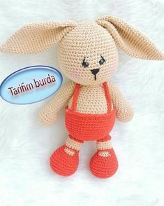 Şişman Tavşan Tarifi – Elişi deryası – Elişi deryası See other ideas and pictures from the category menu…. Crochet Dolls Free Patterns, Crochet Motifs, Amigurumi Patterns, Crochet Ideas, Crochet Animals, Crochet Toys, Crochet Baby, Crochet Disney, Hare Animal