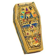 Decorate an ancient Egyptian sarcophagus