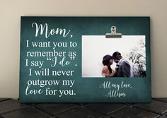 MOTHER of the BRIDE gift, Personalized frame, Wedding gift, Shower gift, Mothers Day gift, Mother of the Groom, Marriage, Custom frame by RusticReflectionsDS on Etsy