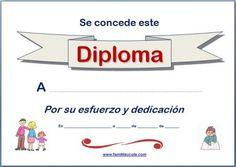 Diploma escolar para imprimir
