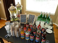 We served these for Shilo & Cheyenne's graduation party and they were a huge hit. You can buy the syrup online direct from Torani , and i. Italian Soda Bar, Italian Cream Soda, Italian Theme, Italian Party, Italian Night, Italian Cafe, Bar Drinks, Yummy Drinks, Beverages