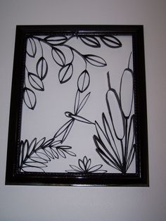 Toilet paper roll art.Dragonfly. (this looks like a stain glass project starting)