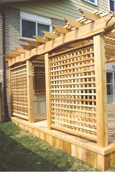 Screens >> Portfolio >> Cedar >> Toronto >> Your Deck Company Outdoor Seating, Outdoor Spaces, Outdoor Living, Deck With Pergola, Gazebo, Backyard Privacy, Home Landscaping, Toronto, Florida Home