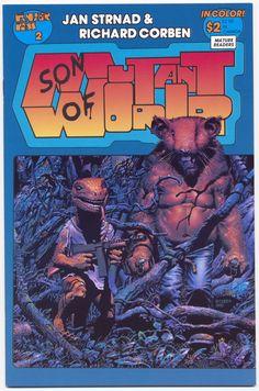 jan strnad & richard corben: magazine covrer - son if mutant world