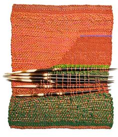 Sheila Hicks : Six Quills at Cristina Grajales Gallery Weaving Textiles, Weaving Art, Loom Weaving, Hand Weaving, Textile Fiber Art, Textile Artists, Sheila Hicks, Tapestry Loom, Weaving Wall Hanging