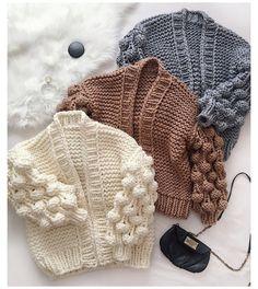 Knitting For Kids, Baby Knitting Patterns, Baby Patterns, Hand Knitting, Crochet Patterns, Knitted Baby Clothes, Crochet Clothes, Knitted Hats, Oversized Knit Cardigan