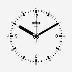 thecwst:  Braun Clock GIF by Dieter Rams, Dietrich Lubs