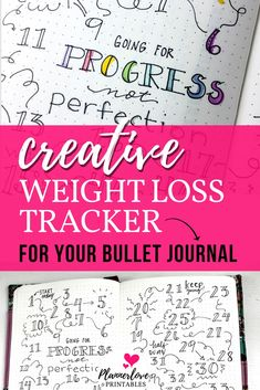 Bullet journal weight loss tracker idea for tracking your progress! Health and f. Bullet journal weight loss tracker idea for tracking your progress! Health and fitness motivation t Creating A Bullet Journal, Bullet Journal Layout, Bullet Journal Inspiration, Journal Ideas, Bullet Journals, Journal Art, Bullet Journal Weight Loss Tracker, Weight Loss Journal, Fitness Journal