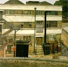 Lucian Freud (1922-2011)  Factory in North London, 1972. Oil on canvas, 71 x 71 cm.  Private collection.