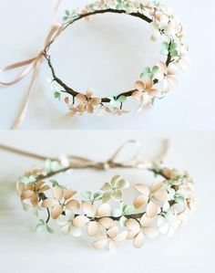 DIY Flower Crown http://soresoftheopenheart.tumblr.com/post/75313399661/how-do-you-make-the-flowers-for-the-flower-crown-like