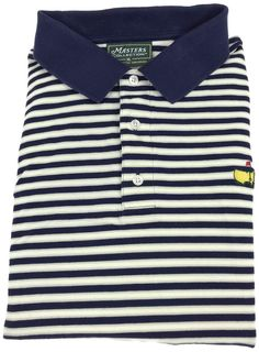 09b4f74ef Masters Collection Golf Shirt XL Mens Short Sleeve Polo Pique Striped Men  Size #Masters #