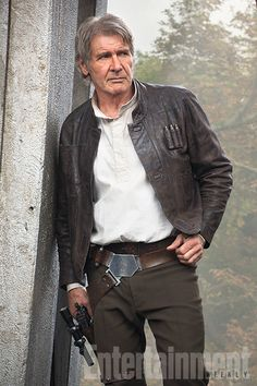 "Portrait of a smuggler as an older man. There's a lot more gray, but the same swagger. ""It could have felt silly, but it didn't,"" Harrison Ford says of getting back into Han Solo's familiar holster."