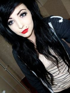 #sexy #emo #scene #pale #hair #eyes